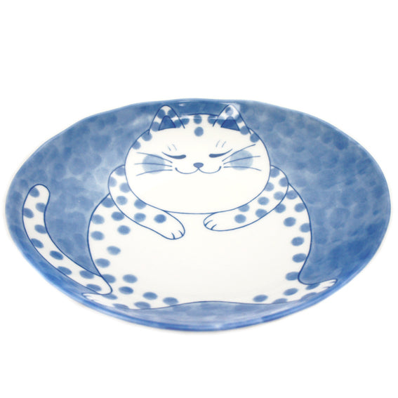 Medium Oval Plate Cat Buchi