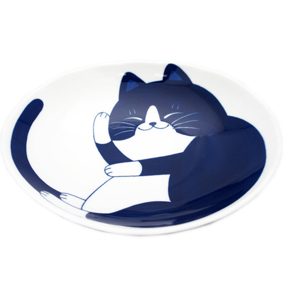 Medium Oval Plate Cat Hachiware