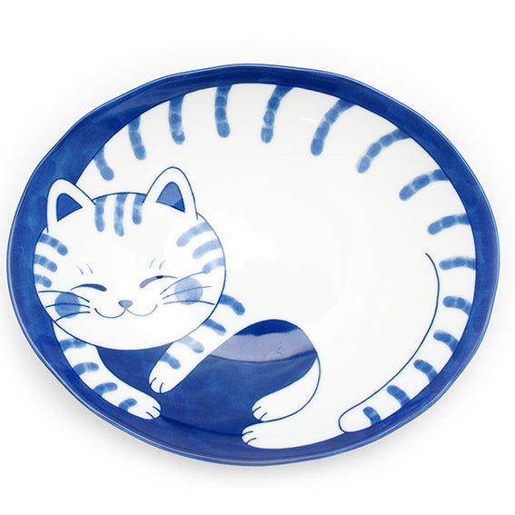 Medium Oval Plate Cat Tora