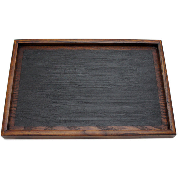 Wooden Tray Rectangle Hakeme Black