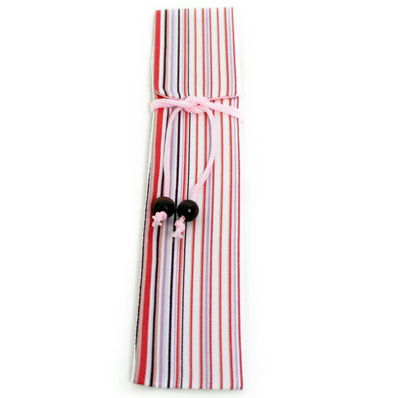 Chopsticks and Bag Pink Stripes