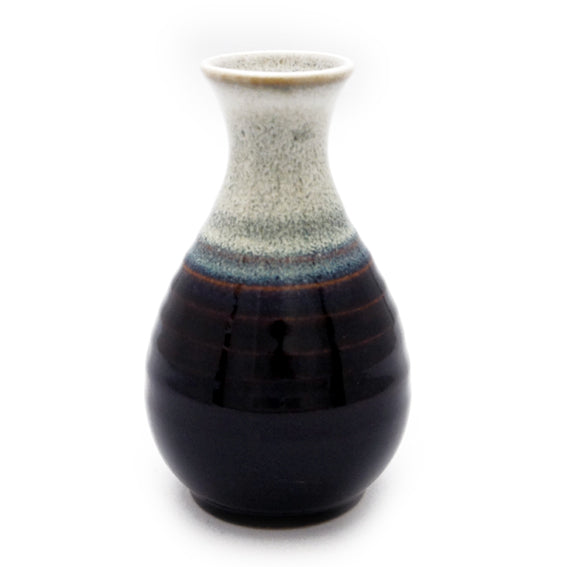 Sake Pot Tenmoku Shirafuki Small