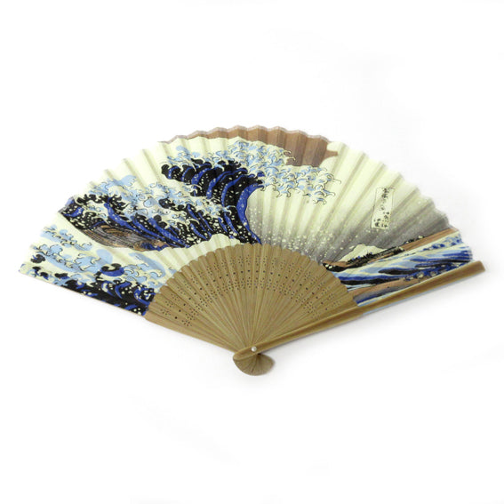 Folding Fan Kanagawaoki Namiura
