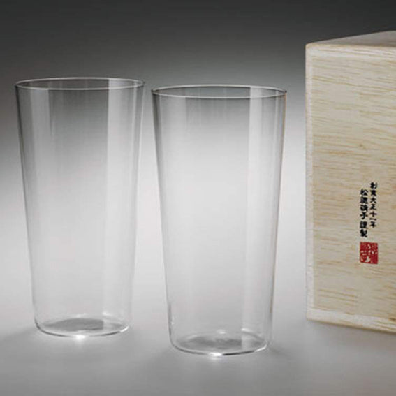 Usuhari Glass Cup Set 2pcs