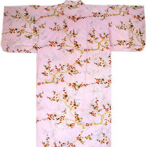 Yukata Robe for Women Plum Pink