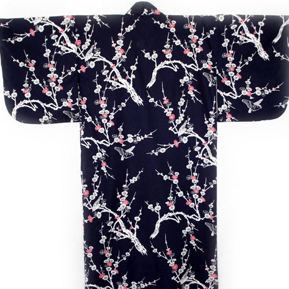 Yukata Robe for Women Ume Navy
