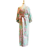 Yukata Robe for Women Sakura Green