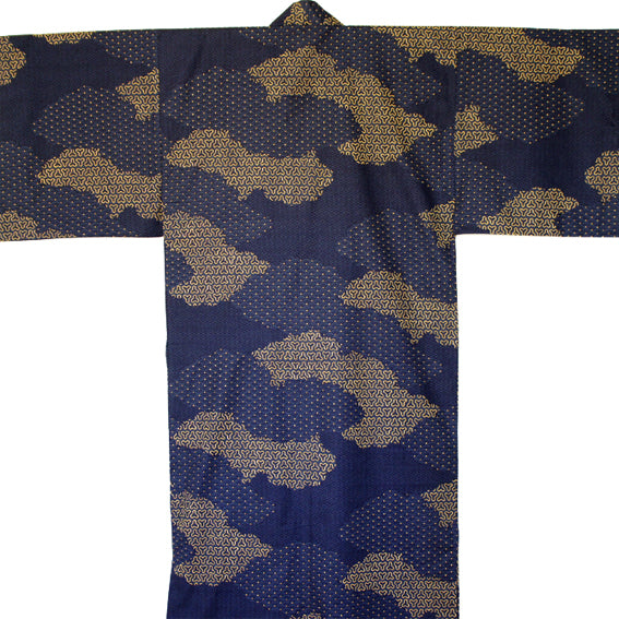 Yukata Robe for Men Unkai Navy