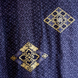 Yukata Robe for Men Gold Diamond Navy