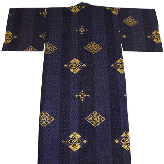Yukata Robe for Men Hishi Navy
