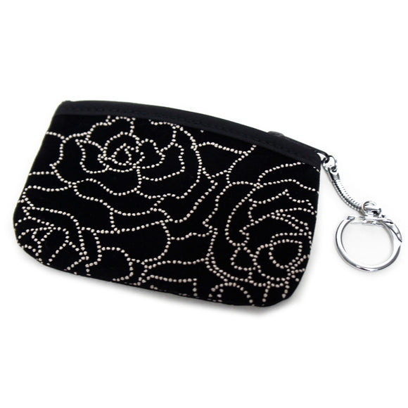 Coin Purse Inden style Black Rose