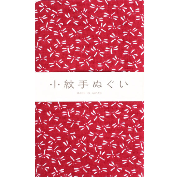 Tenugui Komon Tonbo Red