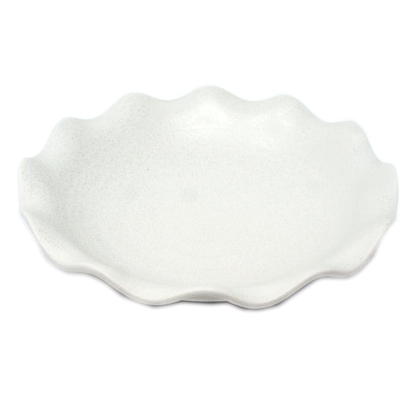 Plate Wave White