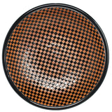 Serving Bowl Checkered Black