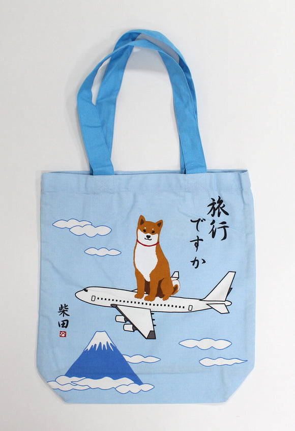 Tote Bag Dog Shibatasan Travel