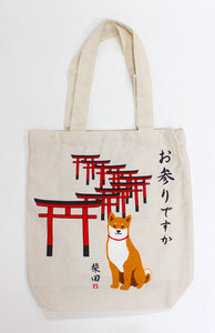 Tote Bag Dog Shibatasan Omairi