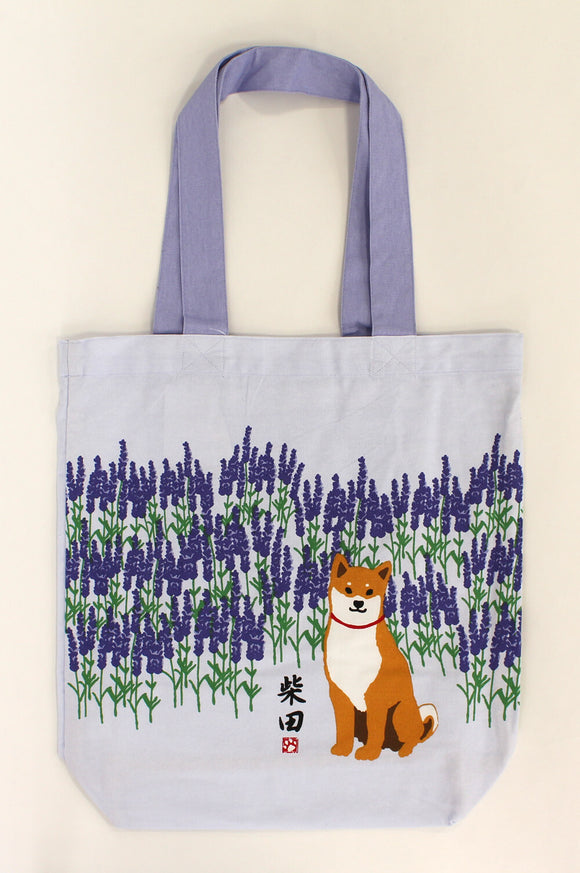 Tote Bag Dog Shibatasan Lavender