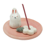 Incense Holder Flower and Rabbit