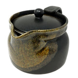 Teapot Black Oribe with Lid Stopper