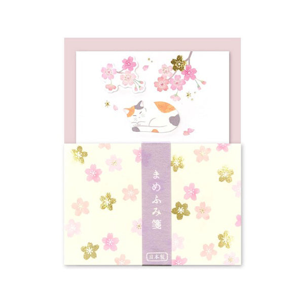 Mini Letter Set Sakura and Cat