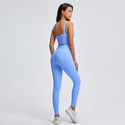 Ensemble Yoga Bleu