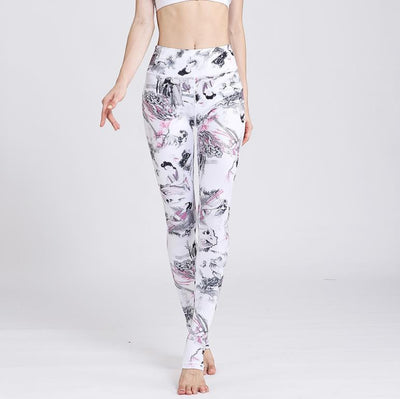 Legging Yoga Asian Lady - blanc / S