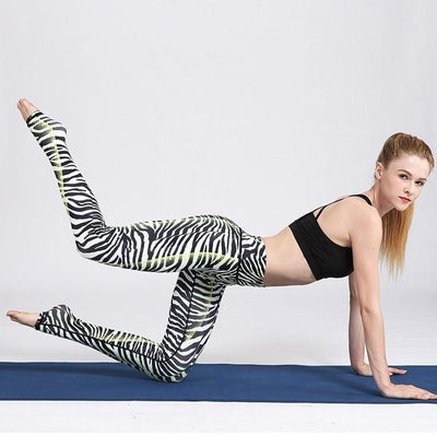 Legging Yoga White Tiger