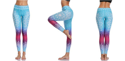Leggings Yoga Mandala Blue Heaven