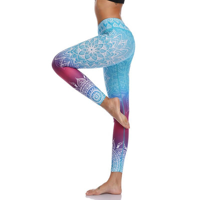 Leggings Yoga Mandala Blue Heaven - Bleu / S