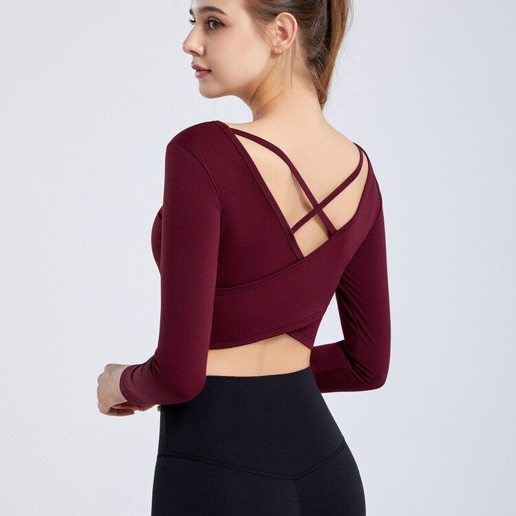 Pull Yoga Glamour - Bordeaux / S