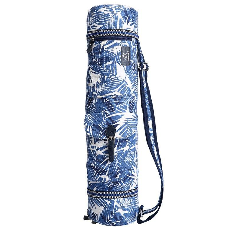 Sac Tapis de Yoga Blue Leaves - Bleu