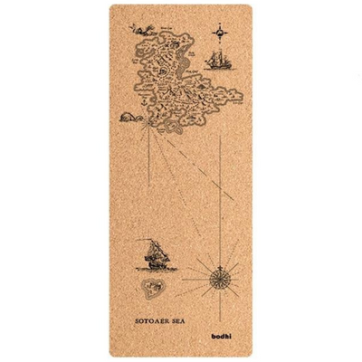 Tapis Yoga en Liège Pirates - carte