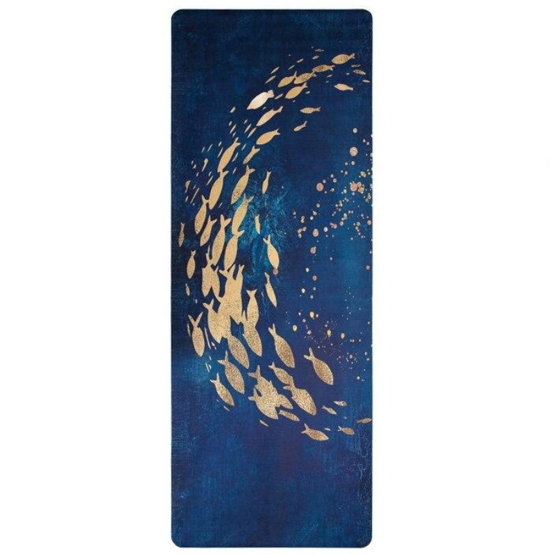 Tapis Yoga Pliable Deep Water - Bleu