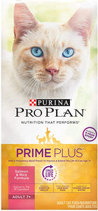 Pro Plan PRIME PLUS Adult 7+ Salmon & Rice Formula Dry Cat Food
