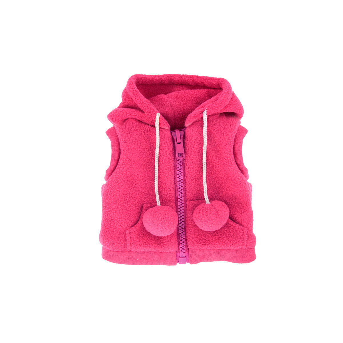 Hot Pink Fleece Vest
