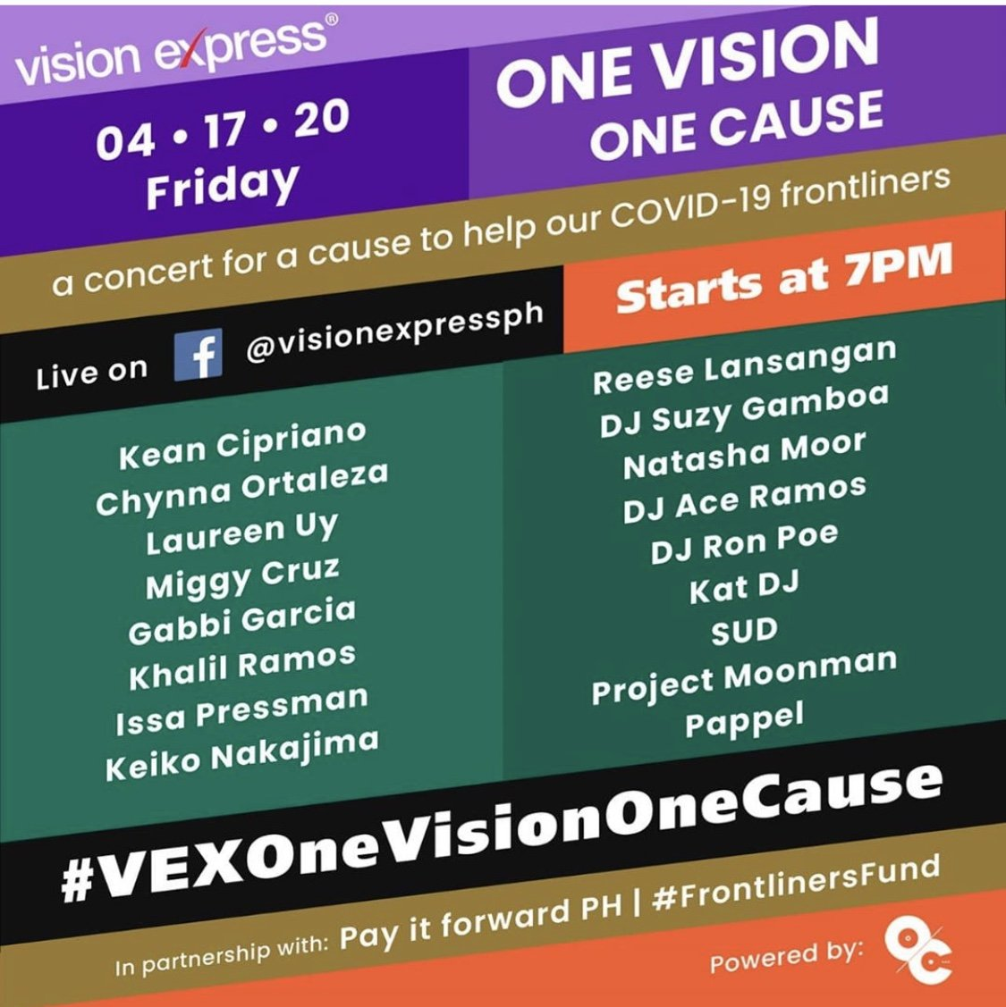 One Vision, One Cause: Concert for a cause to help our Frontliners - Vision Express Philippines