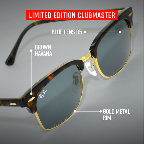Ray-Ban Limited Edition Clubmaster Square with Details