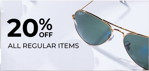 20% off on all regular items - Vision Express Corporate Exclusive Offer
