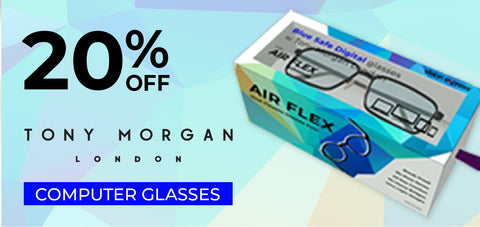 20% off on Tony Morgan London computer glasses - Vision Express Corporate Exclusive Offer
