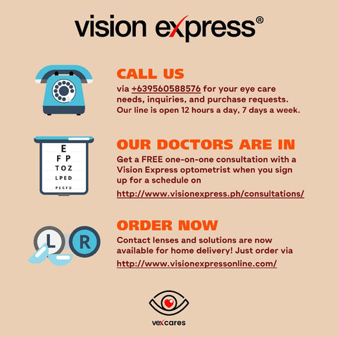 Vision Express Optical Contact Lenses Delivery Home Consultation