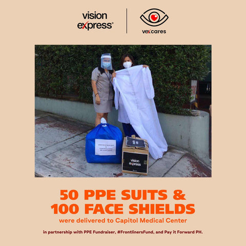 Vision Express Donates Face Shields and PPE's