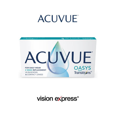 PRE-ORDER: ACUVUE® Oasys with Transitions™ 2-week - Vision Express Optical Philippines
