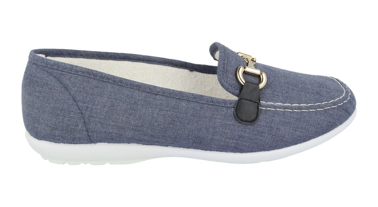 Womens Wide Fit DB Alpha Canvas Shoes