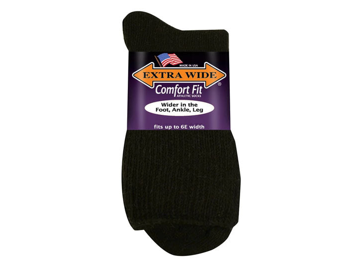 Mens Extra Wide 8600 Comfort Fit Anklet Quarter Top Socks