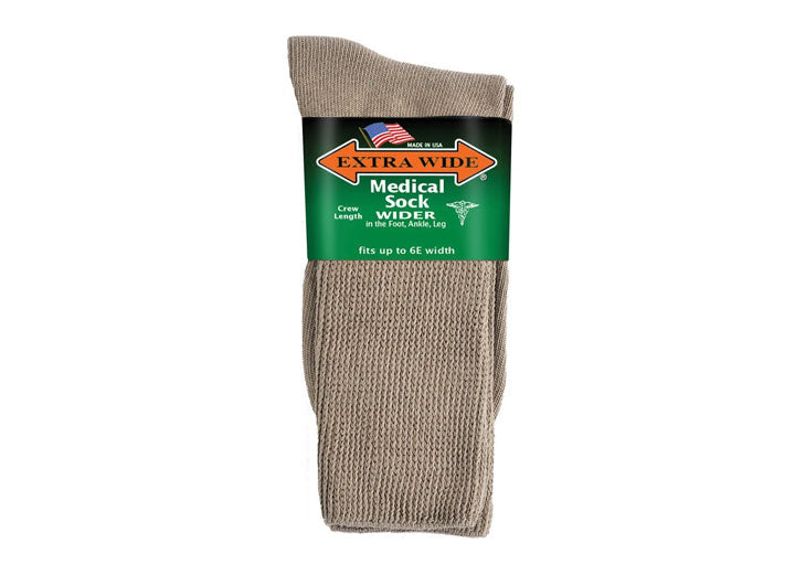 Mens Extra Wide 6950 Comfort Fit Socks