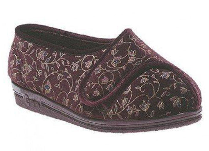 Womens Wide Fit Comfylux Helen Slippers