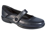 Womens Wide Fit DB Buxton Shoes - Navy