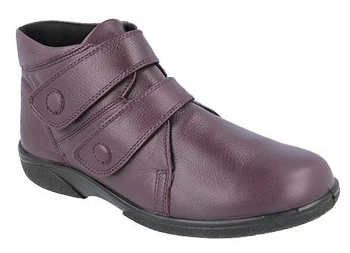 Womens Wide Fit DB Bradwell Boots - Wineberry