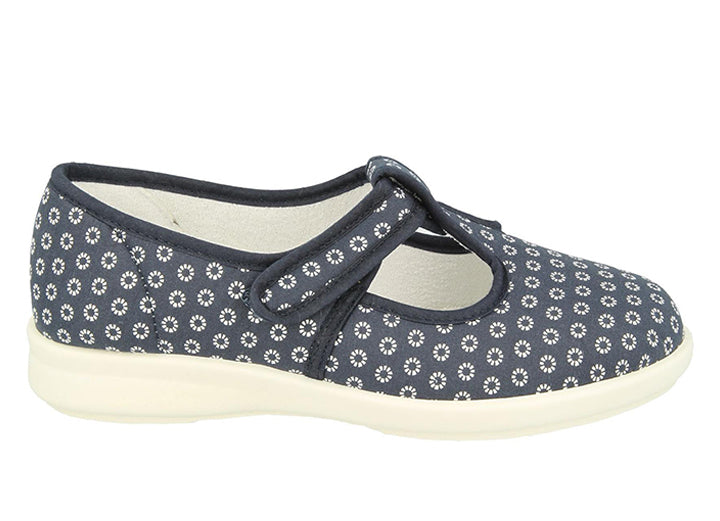 Womens Wide Fit DB Delaware Canvas Shoes