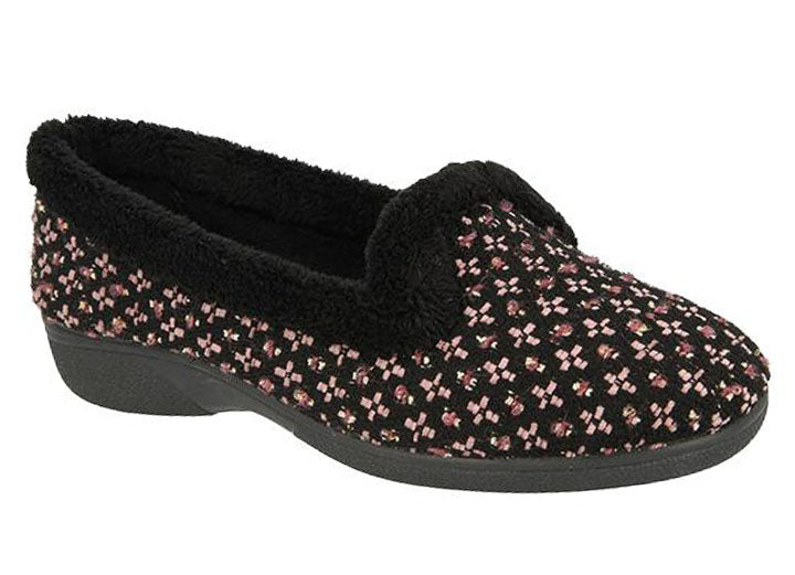 Womens Wide Fit DB Donegal Slippers